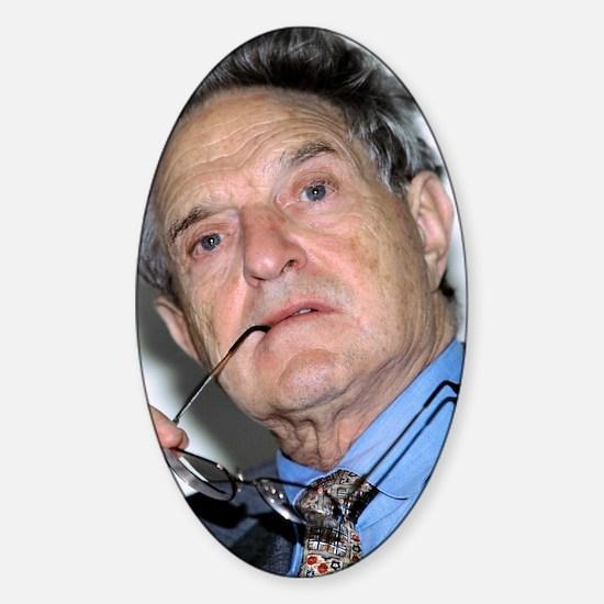 George Soros, Hungarian-US financie Sticker (Oval)