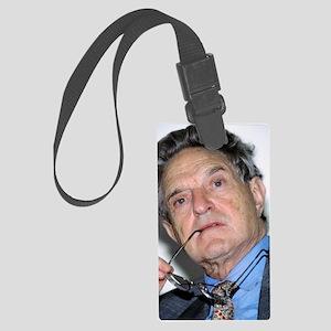 George Soros, Hungarian-US finan Large Luggage Tag