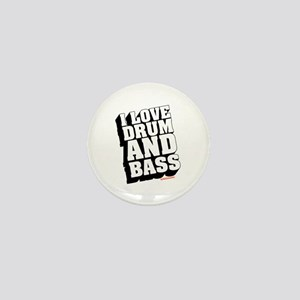 I Love Drum And Bass Mini Button