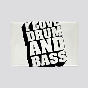 I Love Drum And Bass Rectangle Magnet