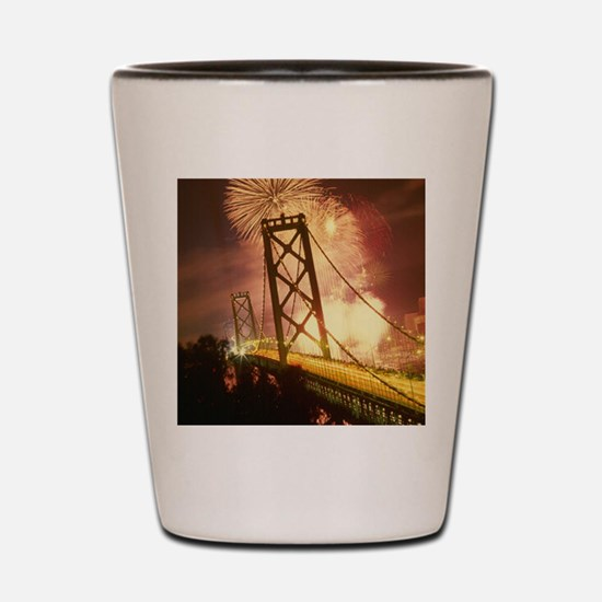 Celebration on Bridge Shot Glass