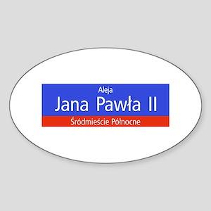 Aleja Jana Pawla II, Warsaw (PL) Oval Sticker