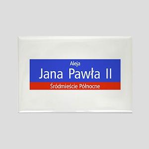 Aleja Jana Pawla II, Warsaw (PL) Rectangle Magnet