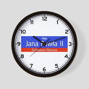 Aleja Jana Pawla II, Warsaw (PL) Wall Clock