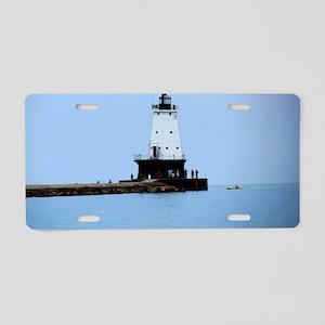 Ludington Lighthouse Aluminum License Plate