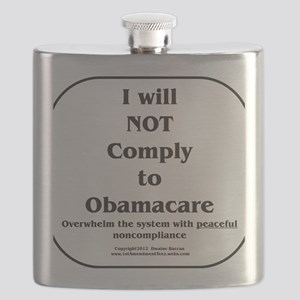 I will NOT comply w/Obamacare Flask
