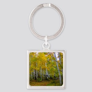 Autumn Yellow Square Keychain