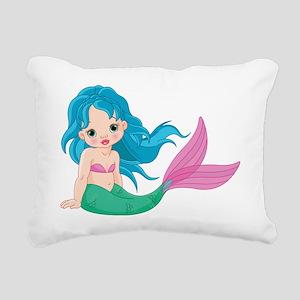 Cute Little Mermaid Rectangular Canvas Pillow
