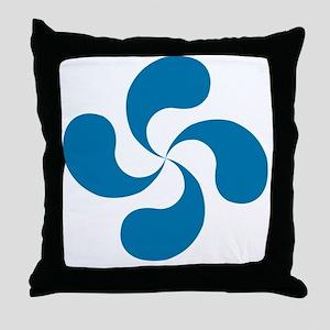 lauburu blue Throw Pillow