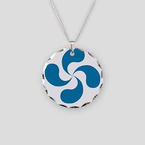 lauburu blue Necklace Circle Charm