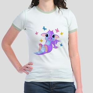 Cute Baby Dragon Jr. Ringer T-Shirt