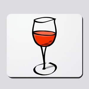 Glass Of Red Wine Mousepad