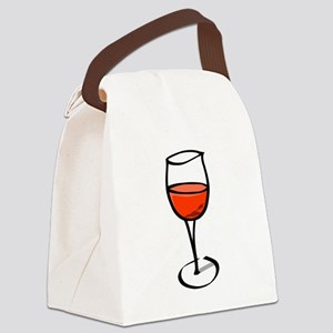 Glass Of Red Wine Canvas Lunch Bag