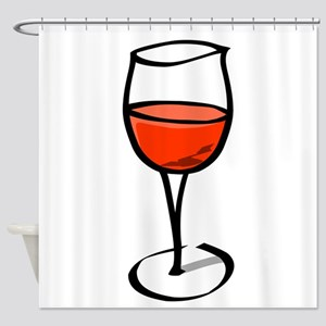 Glass Of Red Wine Shower Curtain