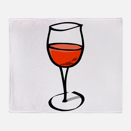 Glass Of Red Wine Throw Blanket