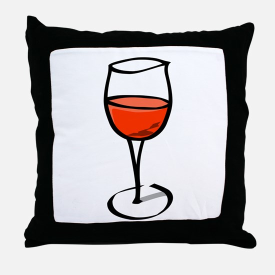 Glass Of Red Wine Throw Pillow