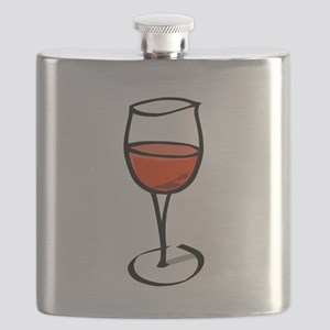 Glass Of Red Wine Flask