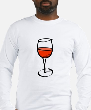 Glass Of Red Wine Long Sleeve T-Shirt