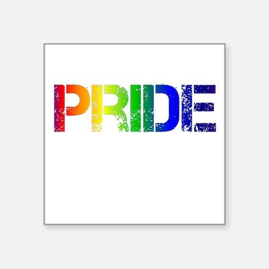 """Pride Rainbow Square Sticker 3"""" x 3"""""""
