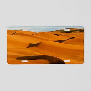 Desert sand dunes at Glamis Aluminum License Plate