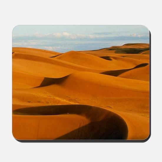 Desert sand dunes at Glamis,near Yuma,Ca Mousepad