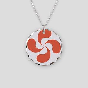 lauburu red Necklace Circle Charm