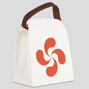 lauburu red Canvas Lunch Bag