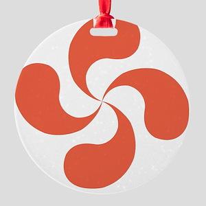 lauburu red Round Ornament