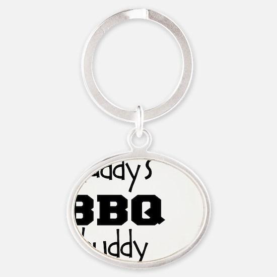 Daddys BBQ Buddy Oval Keychain