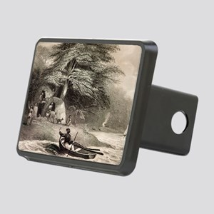 Fuegians from Beagle voyag Rectangular Hitch Cover