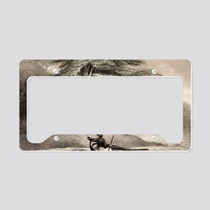 Fuegians from Beagle voyage License Plate Holder