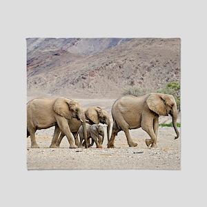Desert-adapted elephants Throw Blanket