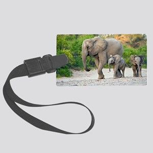 Desert-adapted elephants Large Luggage Tag