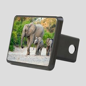 Desert-adapted elephants Rectangular Hitch Cover