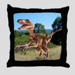 Deinonychus dinosaur Throw Pillow