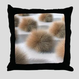Fungal skin infection, artwork Throw Pillow