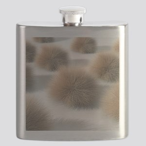 Fungal skin infection, artwork Flask