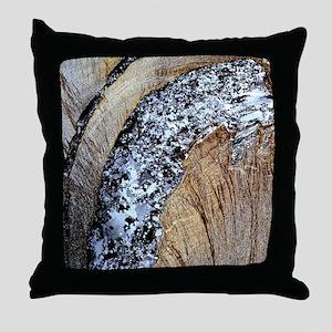Deformed quartz veins in slate Throw Pillow