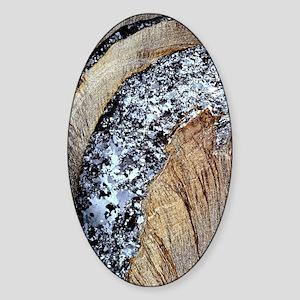Deformed quartz veins in slate Sticker (Oval)