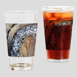 Deformed quartz veins in slate Drinking Glass