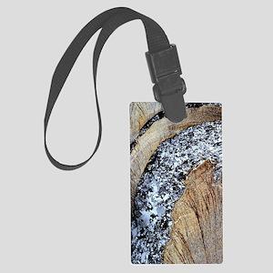 Deformed quartz veins in slate Large Luggage Tag