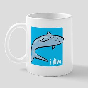i dive - shark Mug