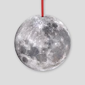 Full Moon Round Ornament