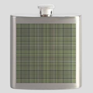 Green Plaid 4 Flask