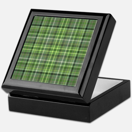 Green Plaid 4 Keepsake Box