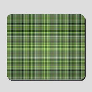 Green Plaid 4 Mousepad