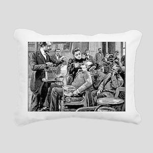 Dental surgery, 19th cen Rectangular Canvas Pillow
