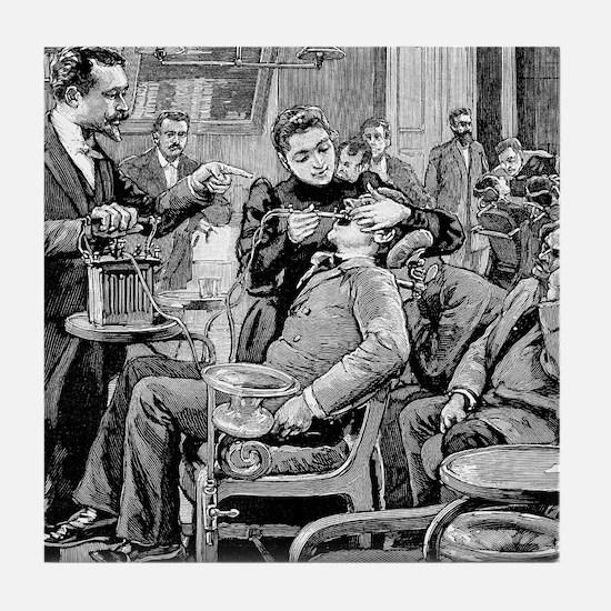 Dental surgery, 19th century Tile Coaster