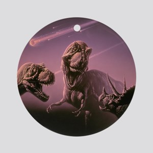 Death of dinosaurs Round Ornament