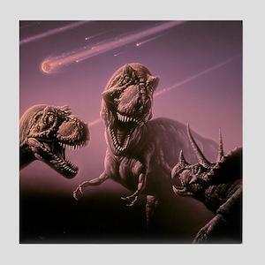 Death of dinosaurs Tile Coaster